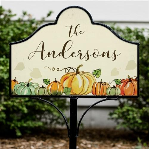 Personalized Halloween & Fall Yard Signs - Magnetic - Fall Pumpkin
