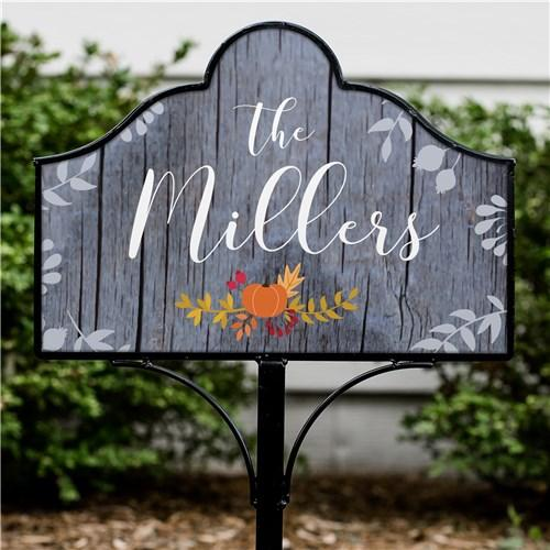Personalized Halloween & Fall Yard Signs - Magnetic - Rustic Fall Floral