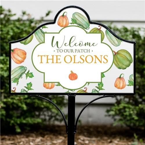 Personalized Halloween & Fall Yard Signs - Magnetic - Welcome To Our Patch