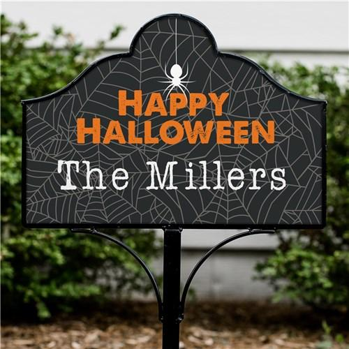 Personalized Halloween & Fall Yard Signs - Magnetic - Happy Halloween Spider