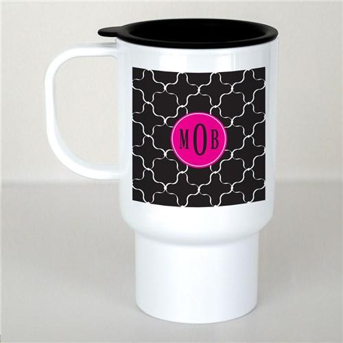Personalized Monogram Madness Travel Mug