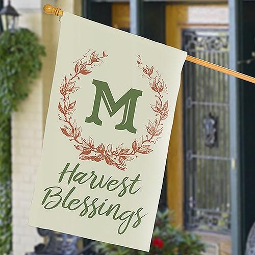 Personalized Halloween & Fall House Flags - Harvest Blessing