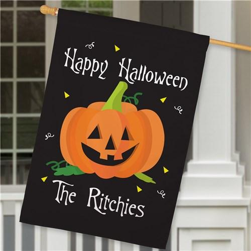 Personalized Halloween & Fall House Flags - Happy Halloween