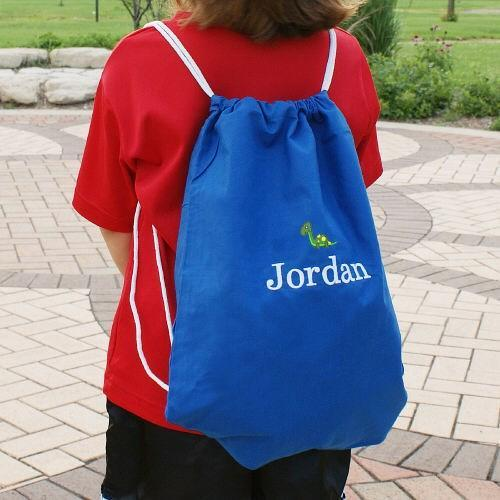 Personalized Embroidered Icon Colored Sports Pack- Drawstring Backpack - Valentine's Day Gift
