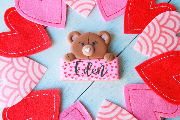 Personalized Valentine's Teddy Plaque