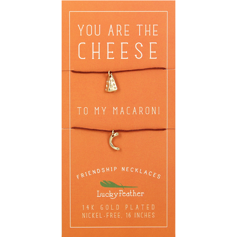 Cheese To My Macaroni, Friendship Necklace Set