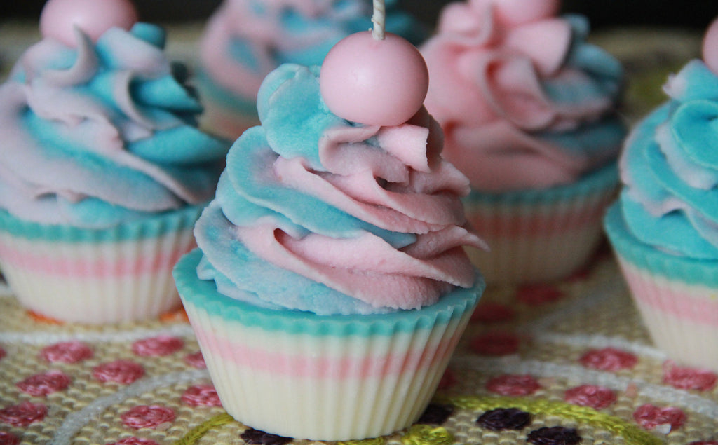 Cotton Candy Premium Cupcake Candle Wholesale 6pk