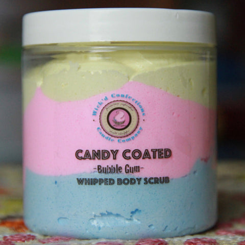 Bubble Gum Candy Coated Whipped Body Scrub