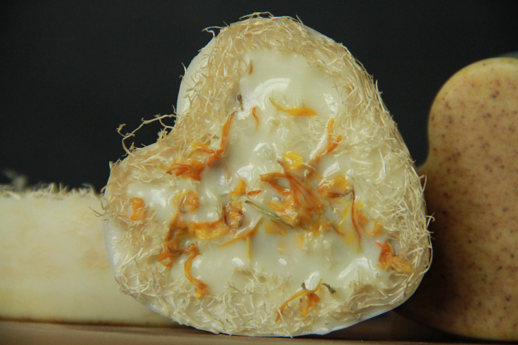 Love's Elixir Shea Butter Loofah Cleansing Bar