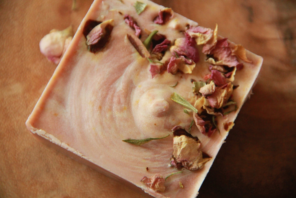 Only When in Love, Rose Clay Botanical Cleansing Bar