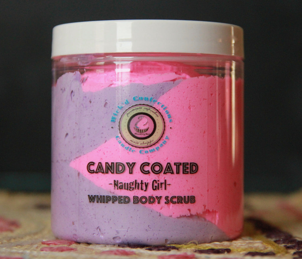 Naughty Girl, Candy Coated Whipped Body Scrub