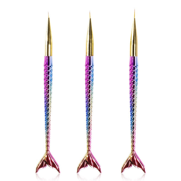 Fine Tip Mermaid Brushes (set of 3)