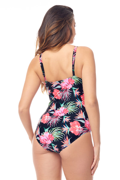 Floral Shirred One Piece