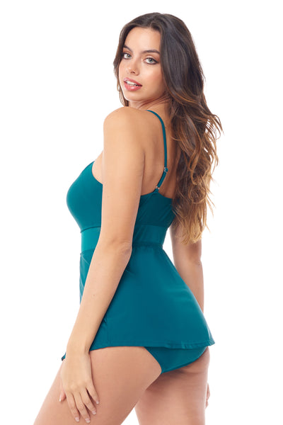 Teal Keyhole Swimdress