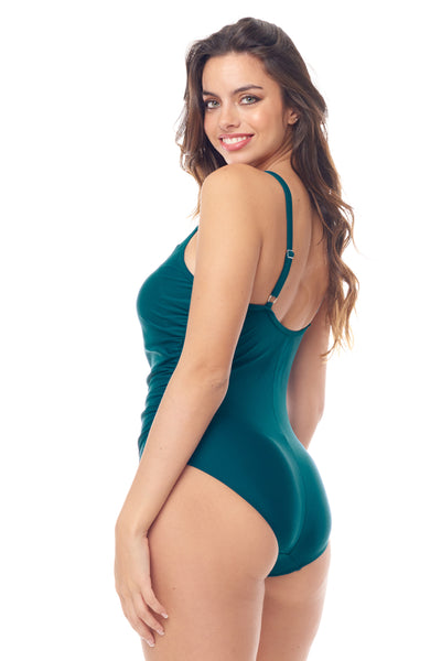 Teal Mesh One Piece