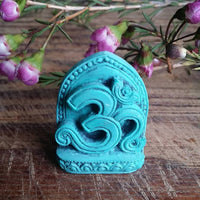 OM Turquoise Powder Statue
