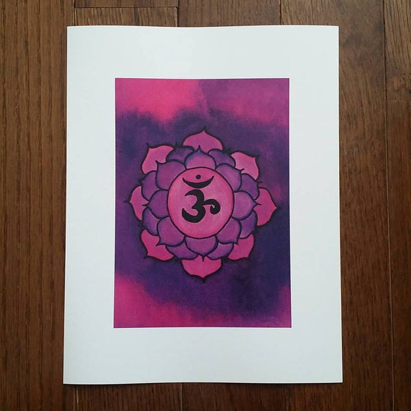 Crown Chakra Art Print (Limited Edition)