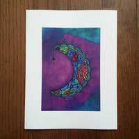 Waxing Moon Art Print (Limited Edition)