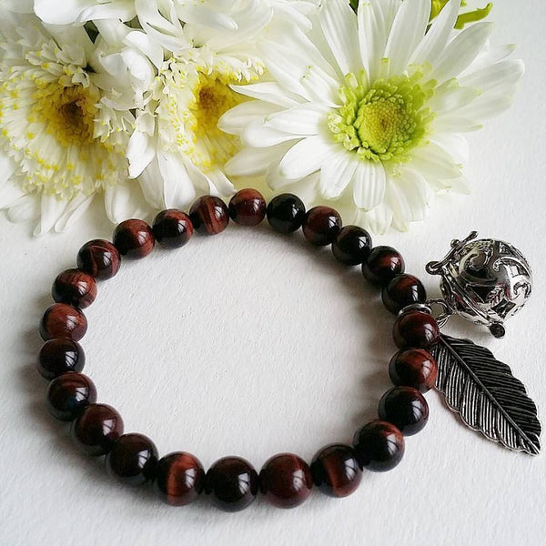 Red Tigers Eye Aromatherapy Bracelet