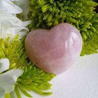 Rose Quartz Puffy Heart (small)