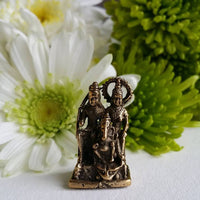 Parvati Family Mini Brass Statue