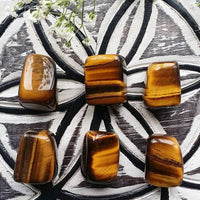 Yellow Tigers Eye Tumbled (1 PIECE)