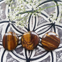 Yellow Tigers Eye Palm Stone (1 PIECE)