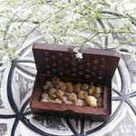 Wood Box with Frankincense Resin
