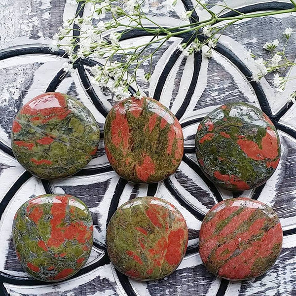 Unakite Palm Stone (1 PIECE)