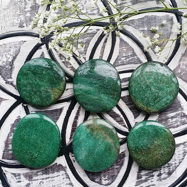 Fuschite Palm Stone (1 PIECE)