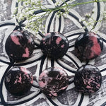 Rhodonite Palm Stone (1 PIECE)