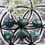 Moss Agate Tumbled (1 PIECE)