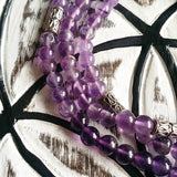 Amethyst Mala for the Third Eye and Crown Chakras