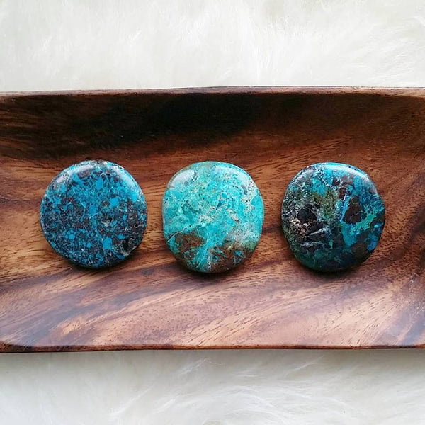 Chrysocolla Palm Stone (1 PIECE)