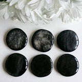 Golden Sheen Obsidian Palm Stone (1 PIECE)