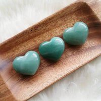 Green Aventurine Puffy Heart (1 PIECE)