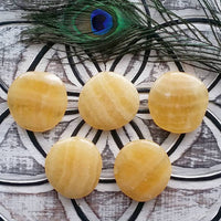 Orange Calcite Palm Stone (1 PIECE)