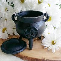 Pentacle Cauldron, Cast Iron