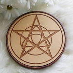 Pentacle Wood Crystal Grid