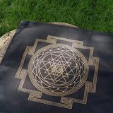 Sri Yantra Cloth Crystal Grid