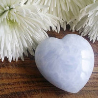 Blue Calcite Puffy Heart (Large)