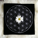 Flower of Life Velvet Crystal Grid