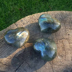 Labradorite Puffy Heart (1 PIECE)