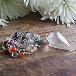 Chakra Clear Quartz Pendulum Necklace