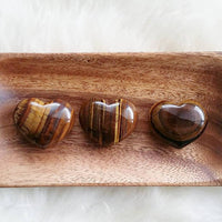 Yellow Tigers Eye Puffy Heart (1 PIECE)