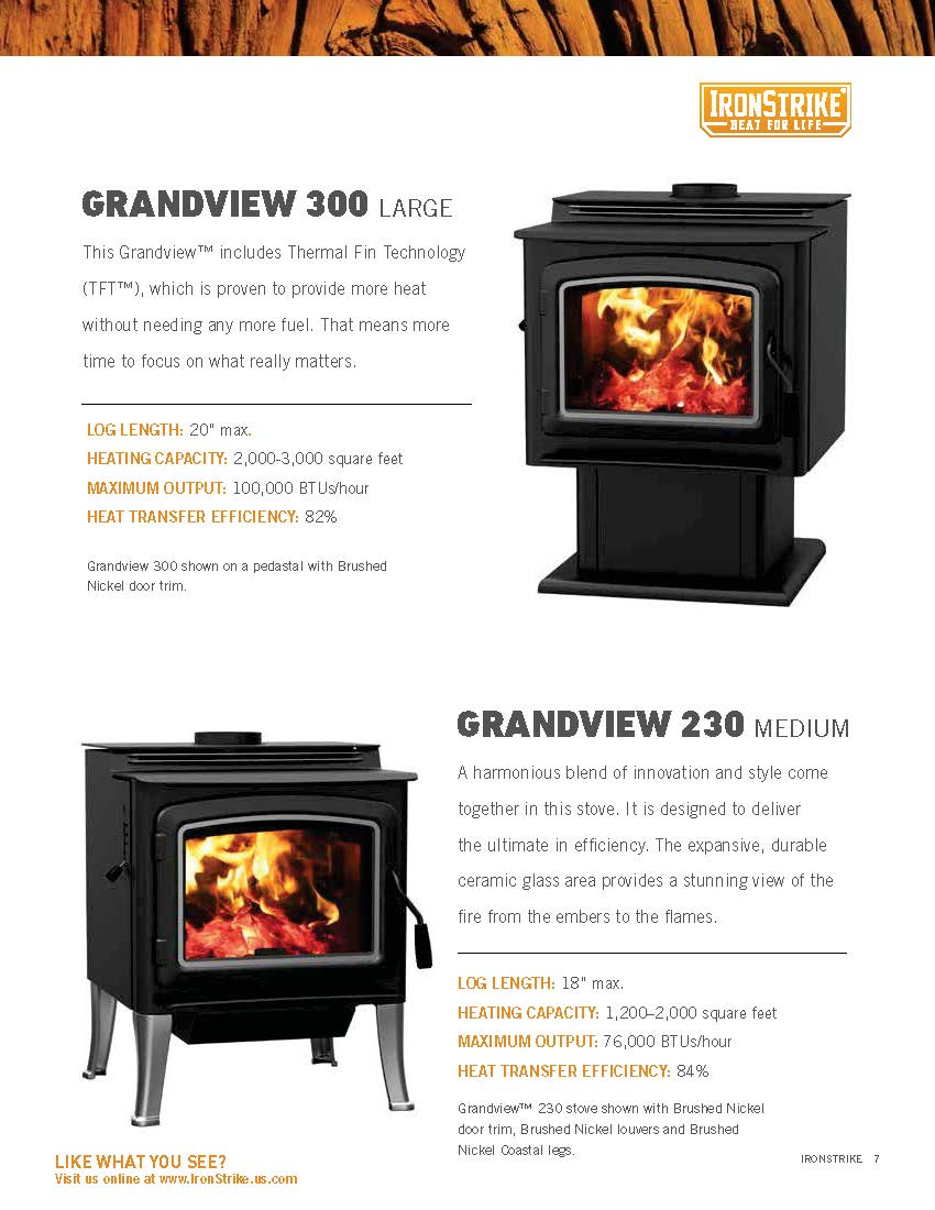Country brand wood stove insert brochure and photos for ...