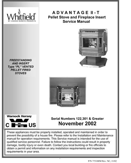 Whitfield Technical Service Amp Troubleshooting Manuals