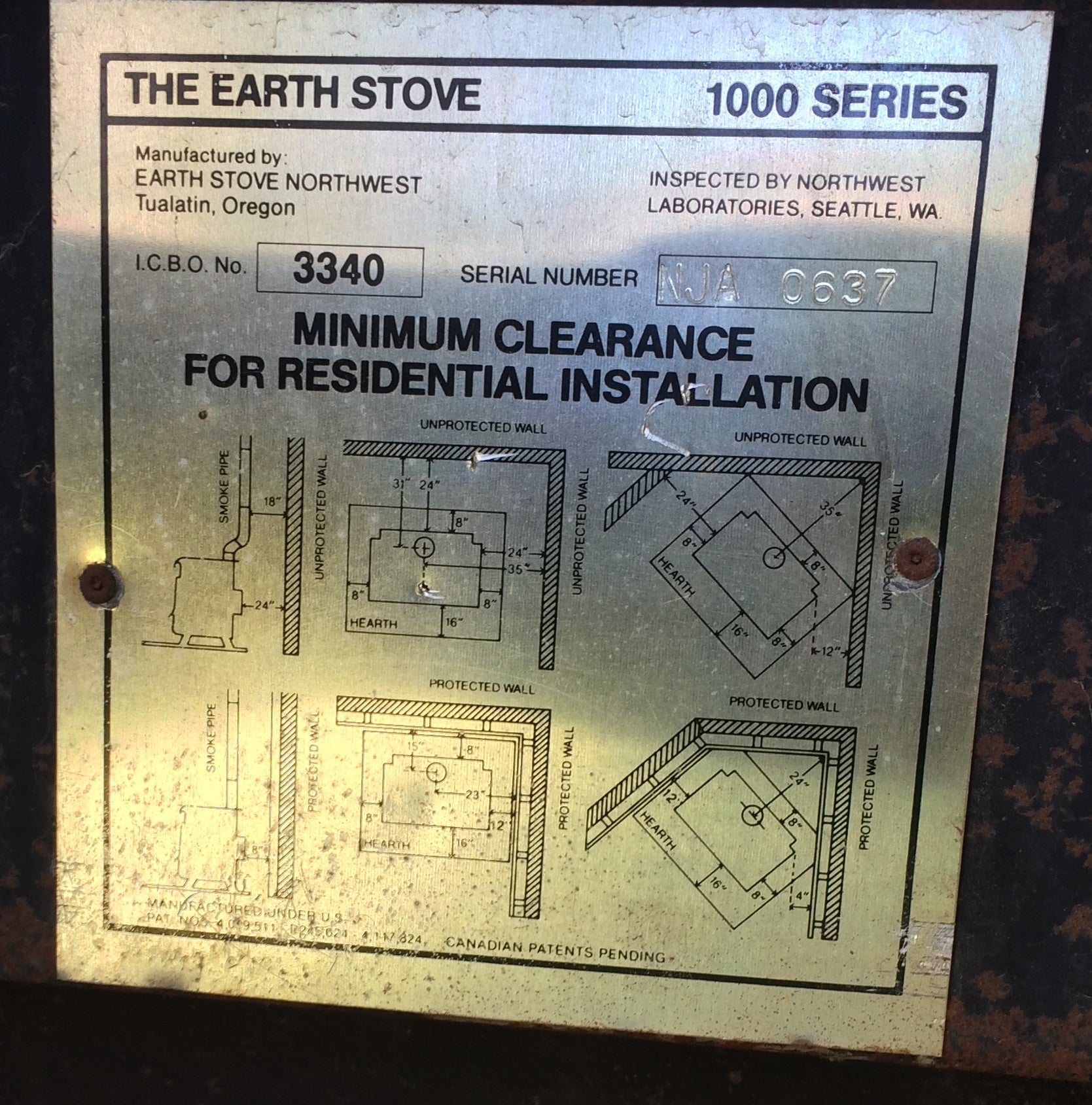Identify Your Earth Stove Wood And Fireplace Inserts Other Buck Thermostat Wiring Diagram This Appears To Be The Catalytic 1002c Or 1003c Burning Which Is Identified By Handle On Flue Collar For Bypassing