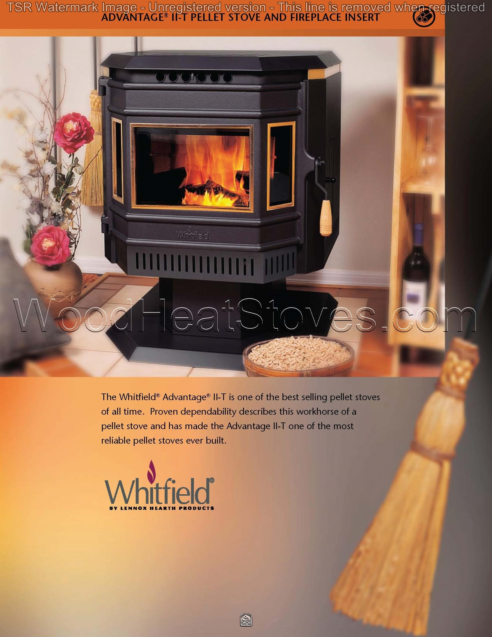 whitfield advantage ii t pellet freestanding stove u0026 insert
