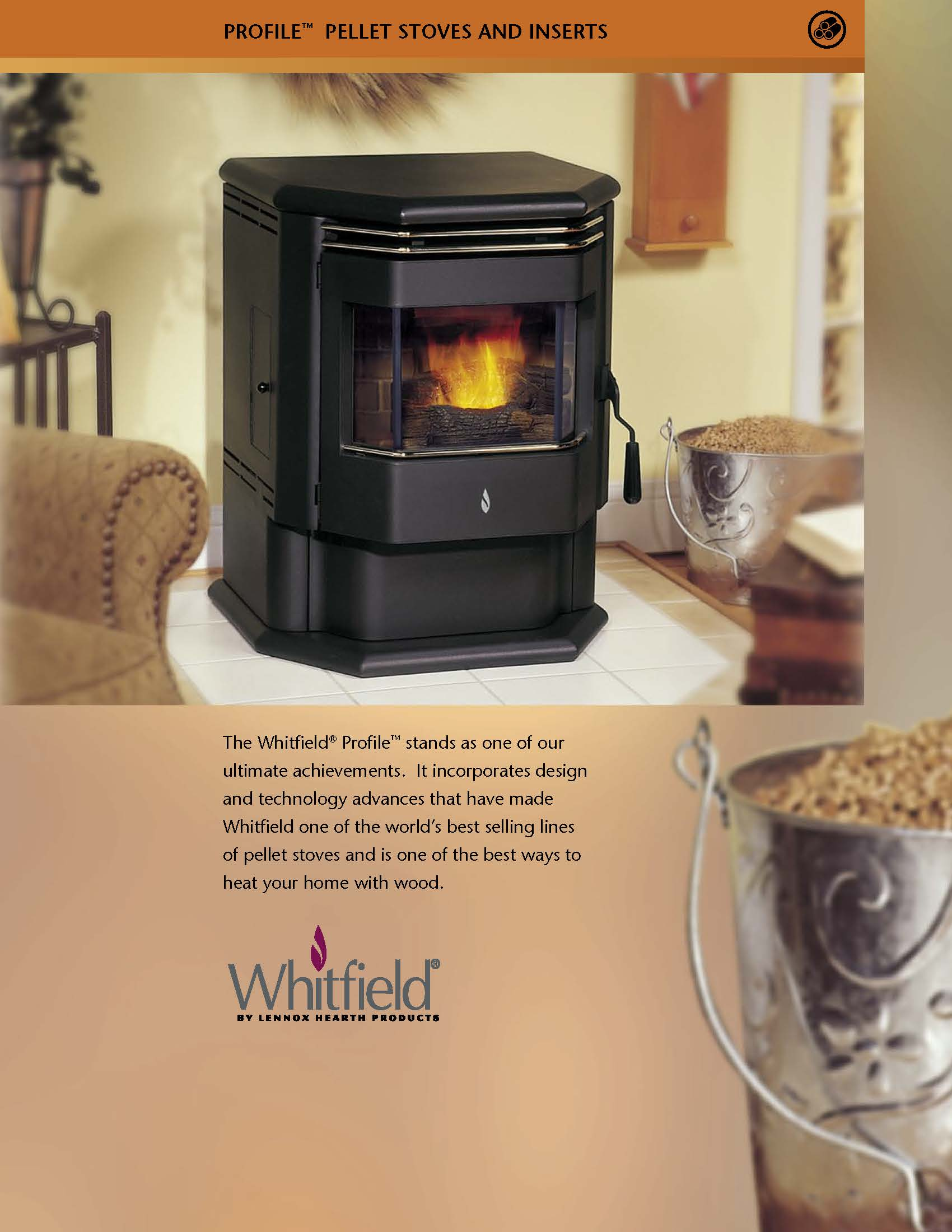 Whitfield Profile 20 30 Pellet Stove Brochure Freestanding